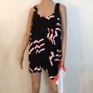 Rachel Roy asymmetrical nice blouse size 2X